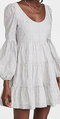 Cinq a Sept - Striped Rose Dress