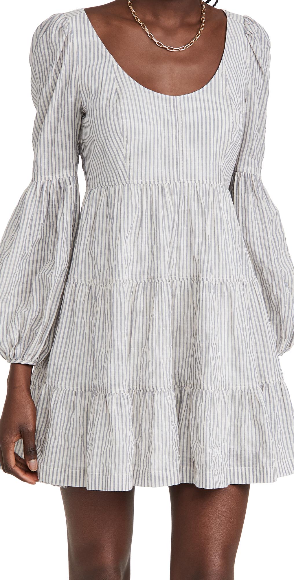 Cinq a Sept Striped Rose Dress