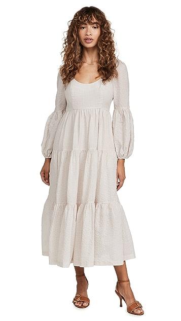 Cinq a Sept Striped Midi Rose Dress