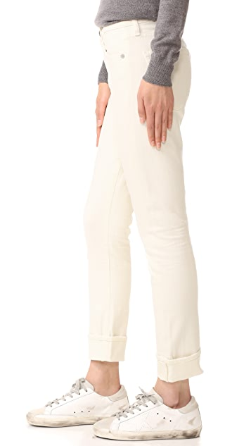 Citizens of Humanity Jazmin Cuffed Slim Straight Jeans