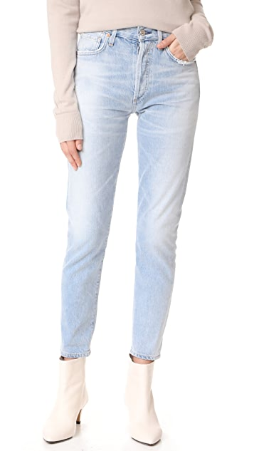 Citizens of Humanity Liya High Rise Classic Fit Crop Jeans ...