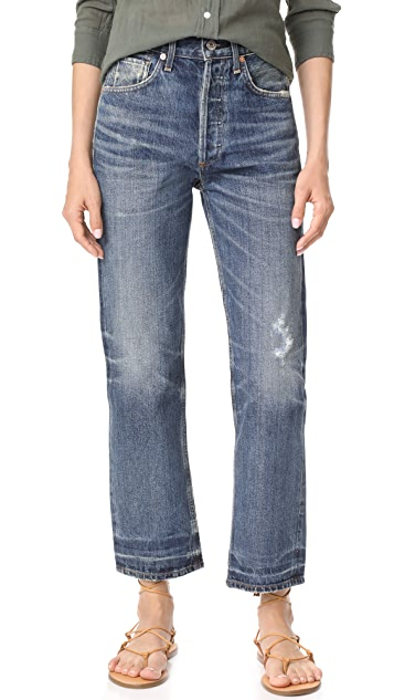 Citizens of Humanity Gia High Rise Ankle Straight Leg Jeans