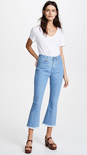 Citizens of Humanity Estella High Rise Fray Ankle Jeans