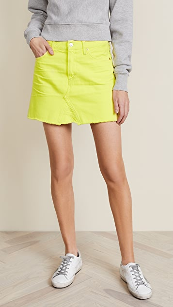 Citizens of Humanity Cutoff Miniskirt - Blaze Yellow