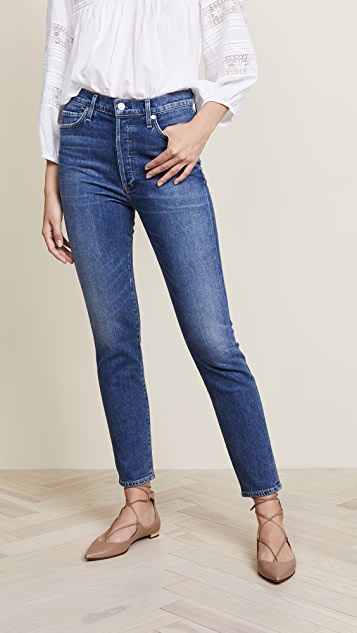 3dfd6b8fa55e Citizens of Humanity Olivia High Rise Slim Ankle Jeans
