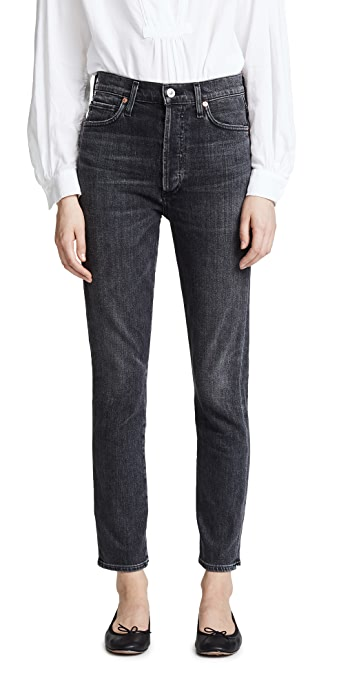 Citizens of Humanity Olivia High Rise Slim Ankle Jeans - Wren