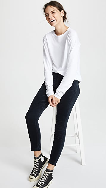 Citizens of Humanity Velvet Rocket Crop High Rise Skinny Jeans