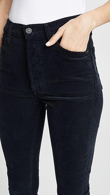 Citizens of Humanity Вельветовые брюки Olivia с высокой посадкой