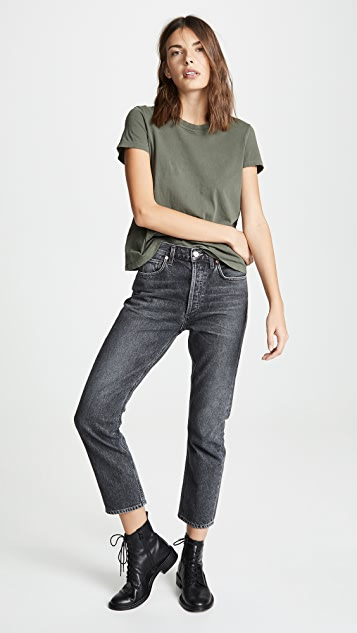 Citizens of Humanity Charlotte Crop High Rise Straight Jeans
