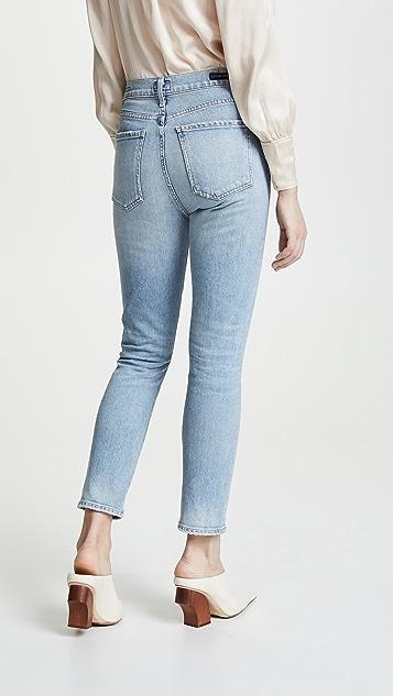 Citizens of Humanity Укороченные узкие джинсы до щиколотки Olivia с высокой посадкой
