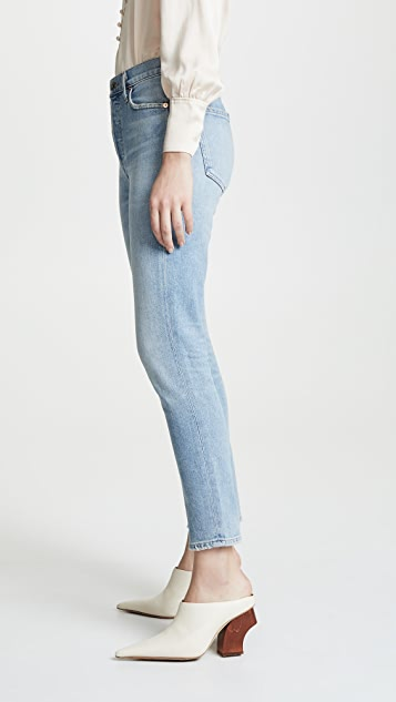 Citizens of Humanity Olivia Crop High Rise Slim Ankle Jeans