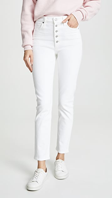 Citizens of Humanity Olivia Exposed Fly High Rise Slim Ankle Jeans