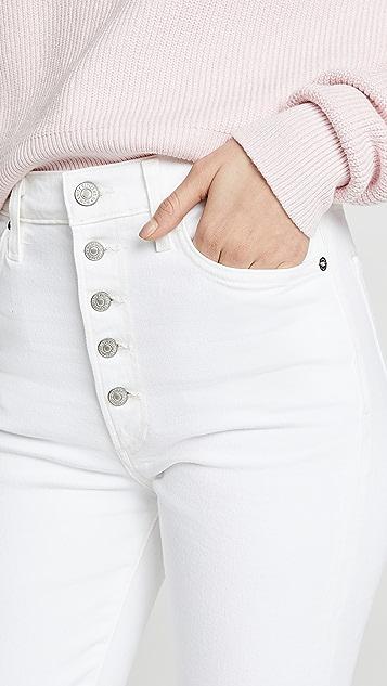Citizens of Humanity Узкие джинсы Olivia с высокой посадкой и наружным гульфиком