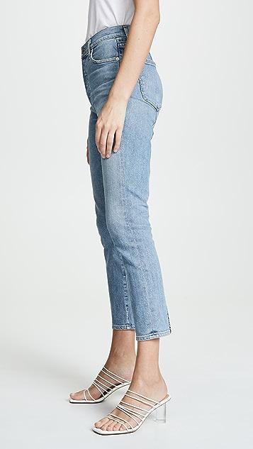 Citizens of Humanity Укороченные облегающие джинсы Olivia с высокой посадкой и швами