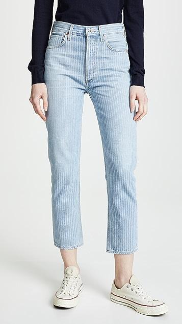 Citizens of Humanity Укороченные прямые джинсы с высокой посадкой Charlotte