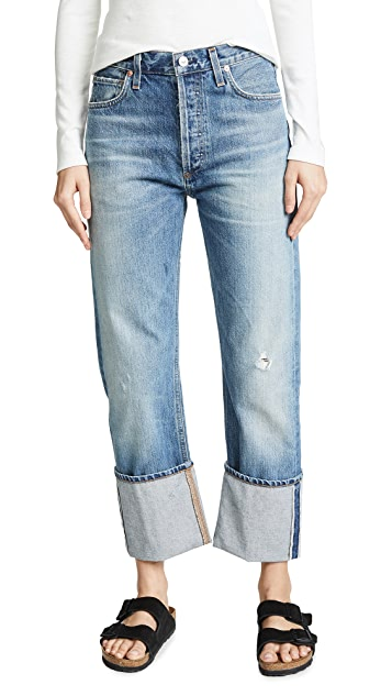 Citizens of Humanity Reese Cuffed Straight Leg Jeans