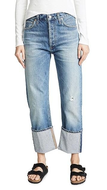 Citizens of Humanity Прямые джинсы с манжетами Reese