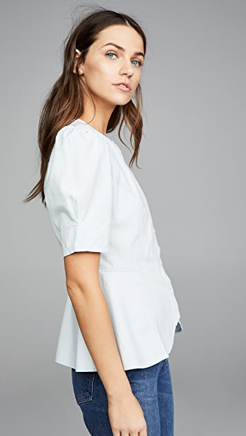 Citizens of Humanity Fran Puff Sleeve Blouse