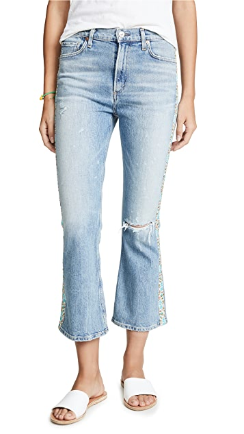 Citizens of Humanity Flora Stripe Demy Cropped Flare Jeans