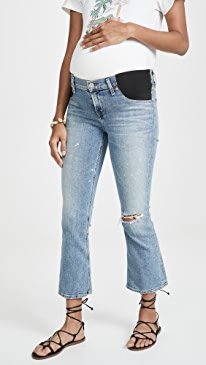 Maternity Mid-rise Demy Cropped Flare Jeans
