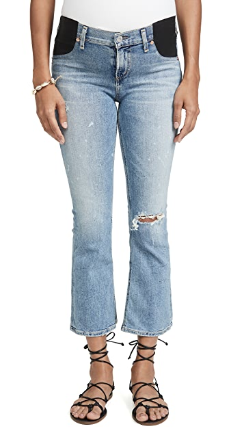 Citizens of Humanity Maternity Mid-Rise Demy Cropped Flare Jeans