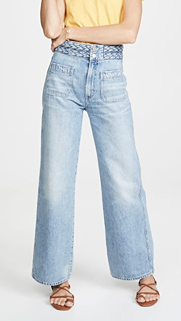 Citizens of Humanity Isla Braided Wide Leg Jeans