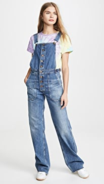 Faye Button Front Overalls
