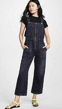 Cher Zip Front Dungaree Overalls