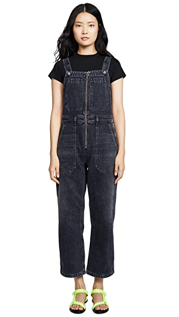 Citizens of Humanity Cher Zip Front Dungaree Overalls