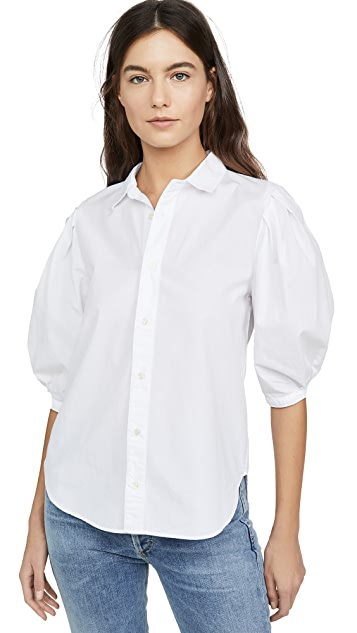 Citizens of Humanity Ines Pleat Half Sleeve Shirt