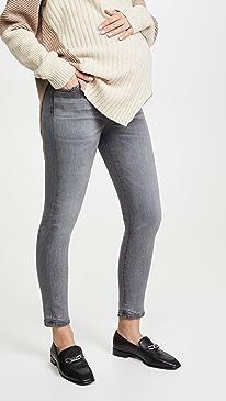 Rocket Crop Maternity Jeans