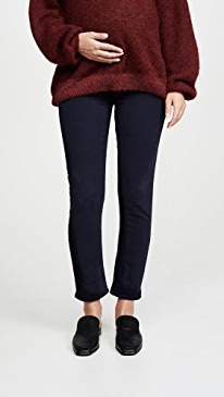 Harlow Ankle Mid Rise Slim Maternity Jeans