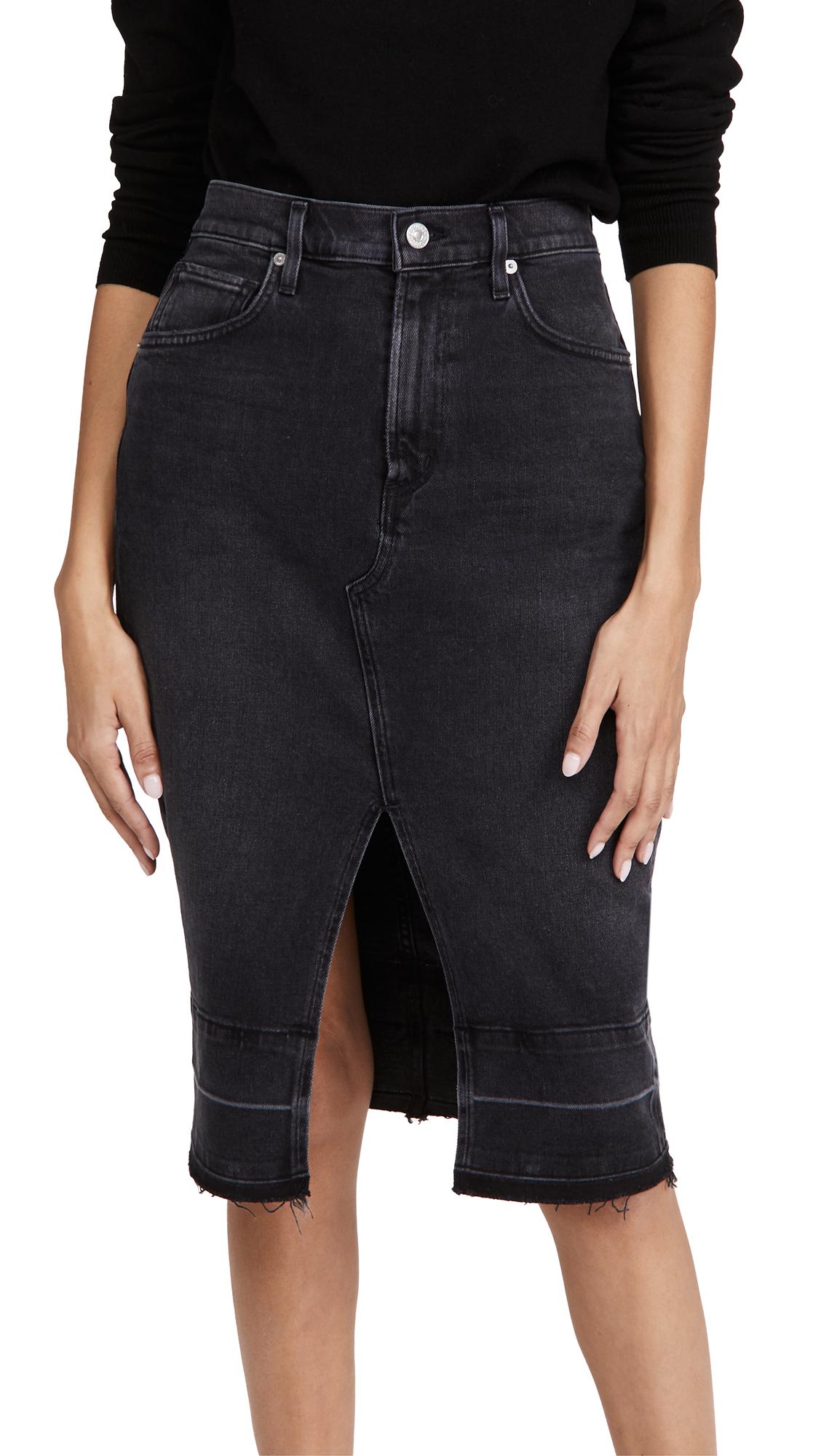 Citizens of Humanity Lauren Front Slit Midi Skirt