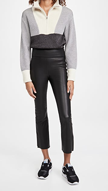Citizens of Humanity Collette Leather Pull On Bootcut Pants