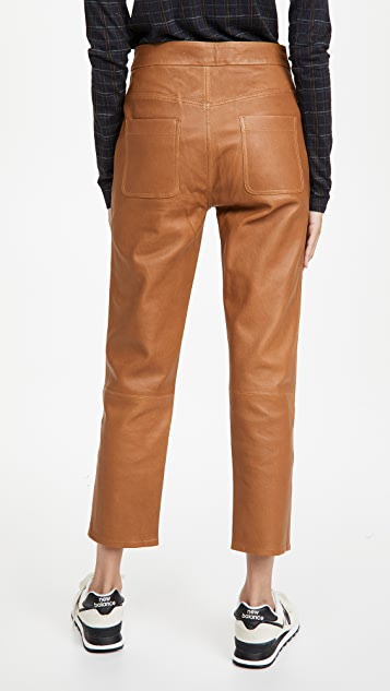 Citizens of Humanity Emma Leather Patch Pocket Pants