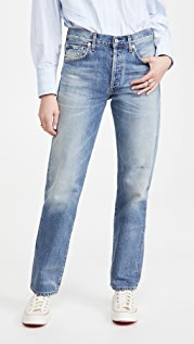 Citizens of Humanity Emery Long Mid Rise Relaxed Straight Jeans