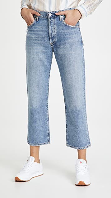 Citizens of Humanity Emery Crop Relaxed Straight Jeans