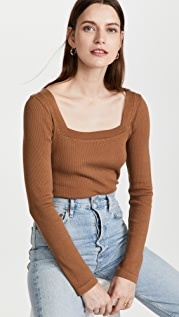 Citizens of Humanity Marisol Square Neck Tee