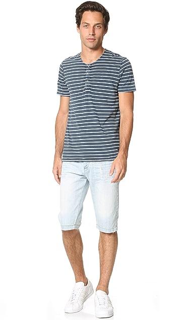 Calvin Klein Jeans Taper Denim Shorts
