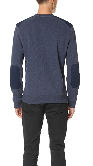 Calvin Klein Jeans Mixed Media Crew Sweatshirt