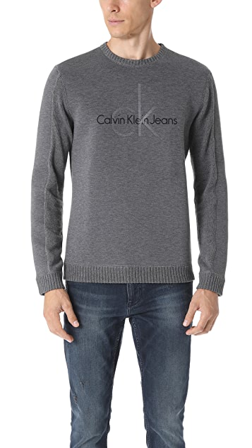 Calvin Klein Jeans Cotton Waffle Logo Sweater
