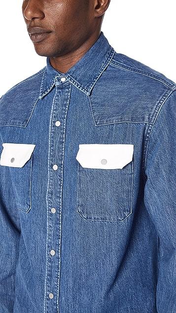 Calvin Klein Jeans Archive Western Blocked Shirt