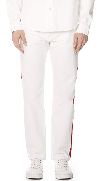 Calvin Klein Jeans Hi Straight Tapered Stripe Jeans