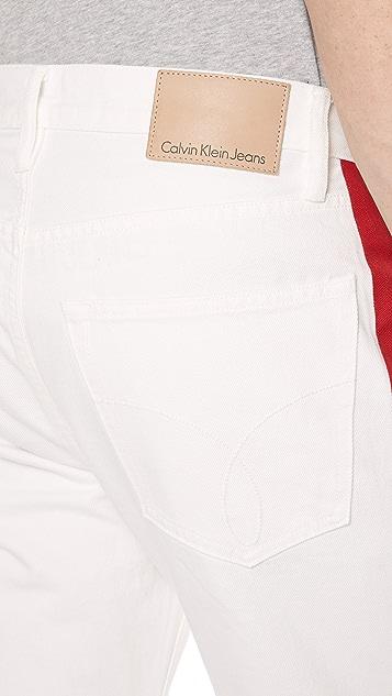 Calvin Klein Jeans Hi Straight Tapered Stripe Jeans