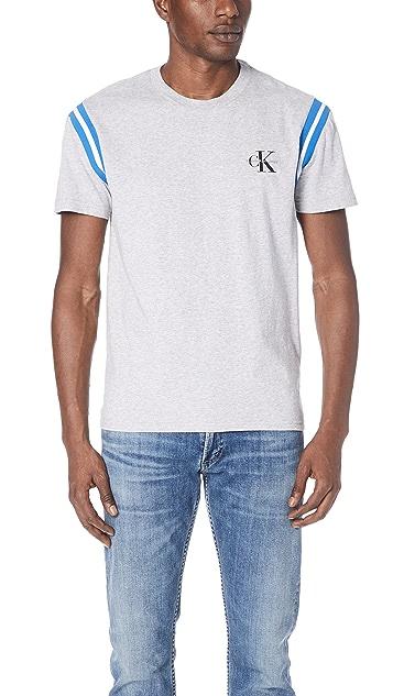 Calvin Klein Jeans Rib Stripe Logo Tee