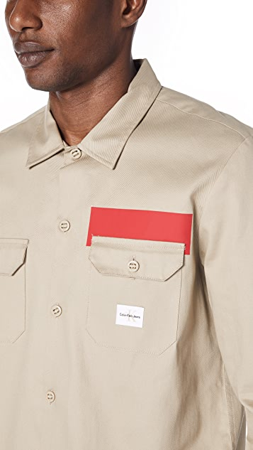 Calvin Klein Jeans Stripe Utility Shirt