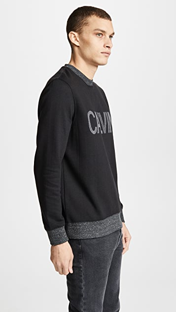 Calvin Klein Jeans Needle Punch Military Sweatshirt