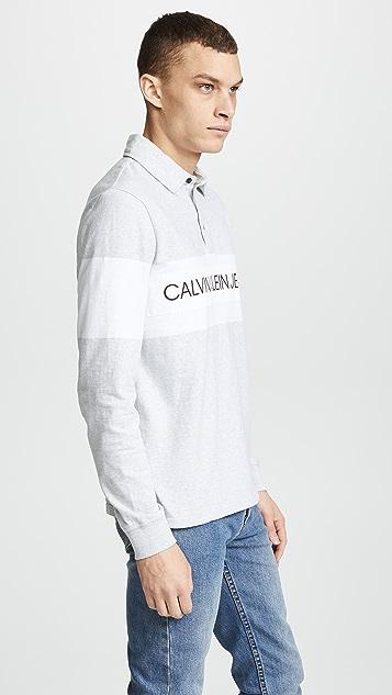 Calvin Klein Jeans Logo Rugby Polo Shirt