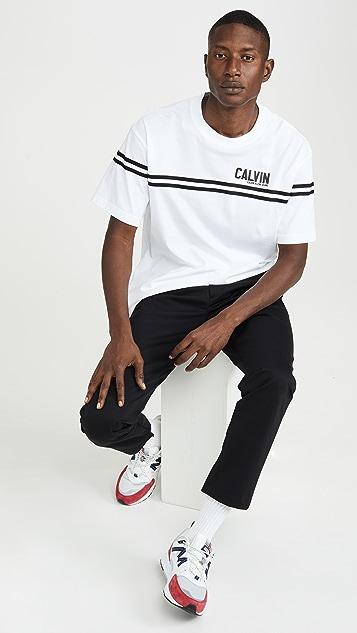Calvin Klein Jeans Varsity Tape Crew Neck Boxy Tee