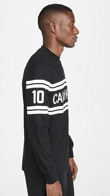 Calvin Klein Jeans Varsity Traveling Logo Long Sleeve Tee